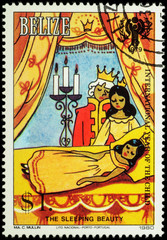 "King, Queen and princess - scene from the fairy tale ""Sleeping B"