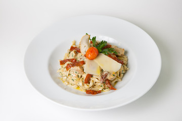 Tagliatelle pasta with cheese