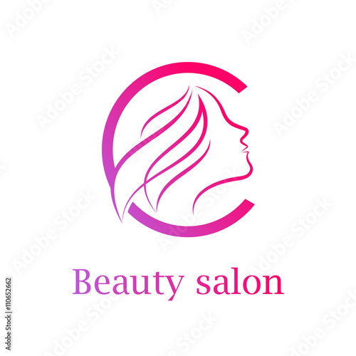 Salon logo design the image kid has it for Abstract beauty salon