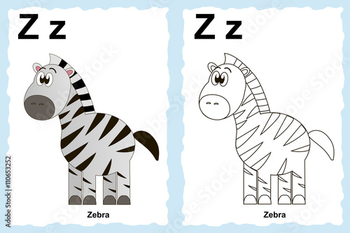 Alphabet coloring book page with outline clip art to color letter z alphabet coloring book page with outline clip art to color letter z spiritdancerdesigns Image collections