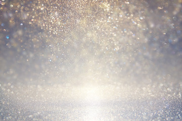 glitter vintage lights background. defocused