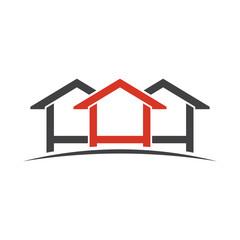 Houses logo design. Vector graphic