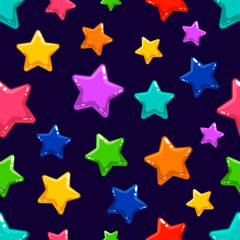 Seamless pattern with colorful  star