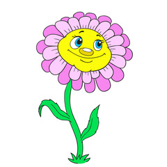 Cartoon character flower.