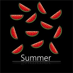 summer with watermelons pattern