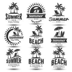 Summer emblem vector