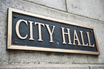City Hall Name Board