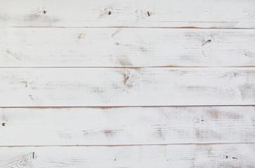 Grunge vintage white wooden board  background