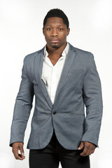 African American Male in Gray Suit