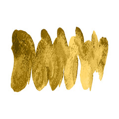 Vector gold paint spiral wave smear stroke stain on white background