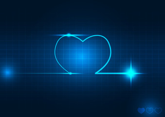 Abstarct heart wave vector illustration