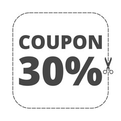 Coupon design, sale icon 30%