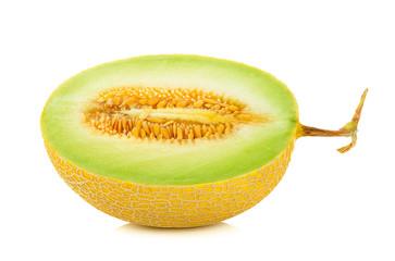 Yellow Cantaloupe melon isolated