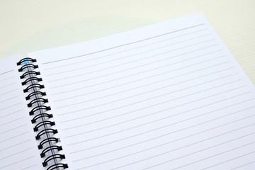 Blank paper spiral book
