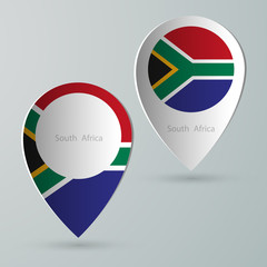 paper of map marker for maps south africa