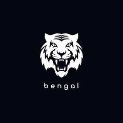 bengal white tiger logotype
