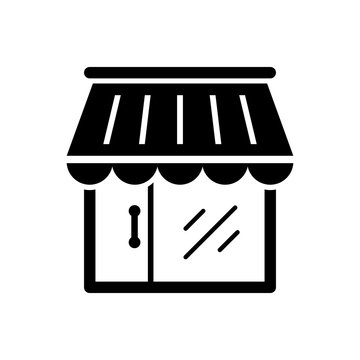 store icon black on white background