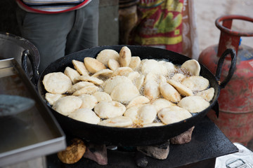 Idlis Cooked in Wok