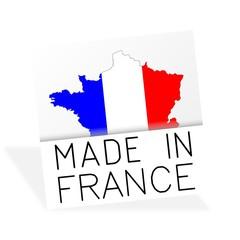 Fabriqué en France - carte tricolore - Made in France