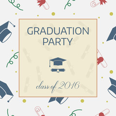 Graduation Celebrating Invitation or Postcard