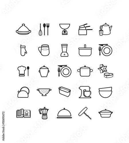 u0026quot pictogrammes des ustensiles de cuisine u0026quot  fichier vectoriel libre de droits sur la banque d