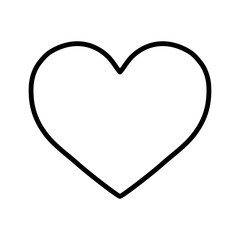 heart love valentine thin line icon