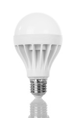 Energy saving LED lamp isolated on white.