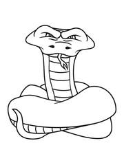 wicked cool dangerous cobra snake comic cartoon design