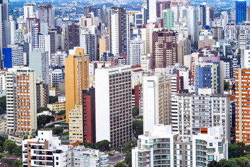 Curitiba cityscape, Parana State, Brazil.