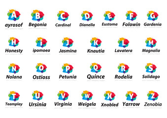 Logo collection, letters Template for your company