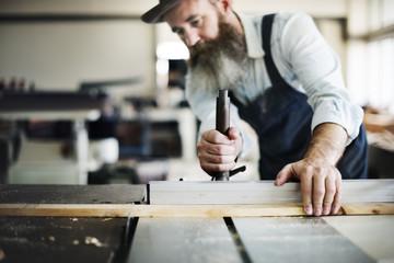 Handyman Occupation Craftsmanship Carpentry Concept Wall mural