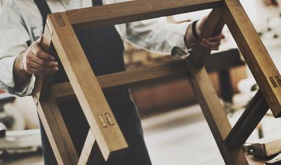 Carpenter Craftmanship Carpentry Handicraft Wooden Workshop Conc