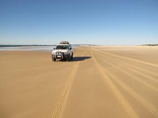 Beach on Fraser Island, Queensland, Australia