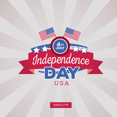 Independence day of America. Typography design