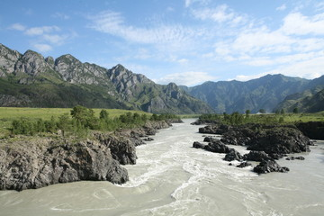 Altai region Russia mountain landscapes