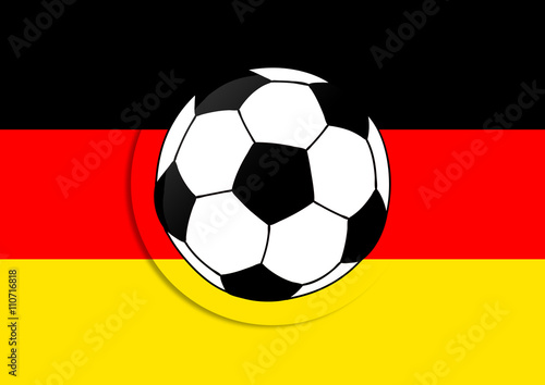 Deutschland Flagge Mit Fussball Stock Photo And Royalty