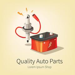 Car auto parts banner