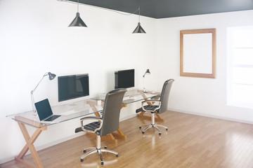 Two designer desktops