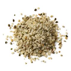 Heap of raw hemp seeds