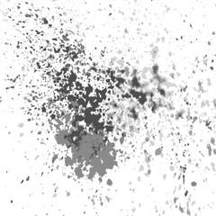 Vector silver paint splash, splatter, and blob shiny on white background. Splash spiral abstract background, frame vector illustration.