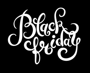 black friday handmade lettering calligraphy, total sale discount