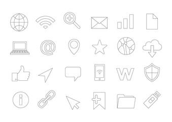 Internet vector icons set