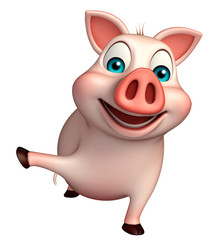 fun  Pig cartoon character