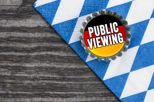 Kronkorken mit Public Viewing