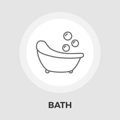 Bath Vector Flat Icon
