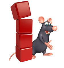 fun  Rat cartoon character with level
