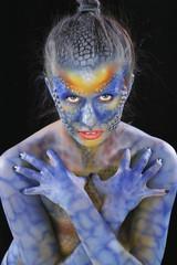 body art - the girl chameleon