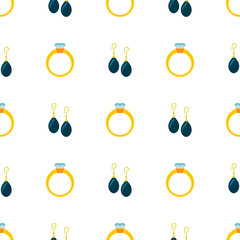 Seamless background with jewelry icons for your design