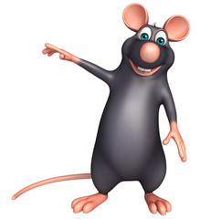 pointing  Rat cartoon character