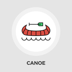 Canoe Vector Flat Icon